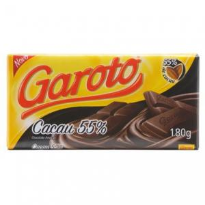 Chocolate Garoto Cacau 55% chocolate amargo