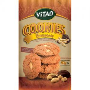 Biscoitos integral cookies castanha do par� Vitao