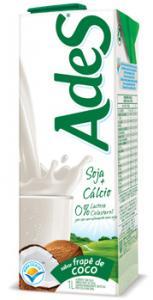 suco de soja frapê de coco Ades