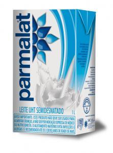 Leite UHT semidesnatado Parmalate