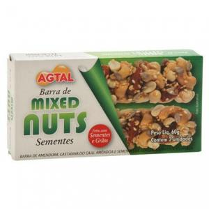 Barra de sementes Mixed Nuts Agtal
