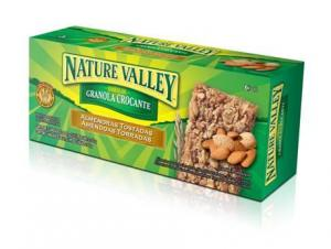 Barra de granola crocante amêndoas torradas Nature Valley
