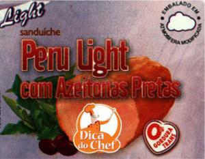 Sanduíche light Peru com azeitonas pretas Dica do Chefe