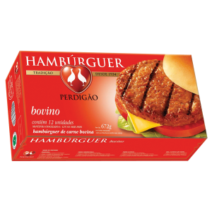 Hambúrguer de carnes de frango, bovino e de peru Perdigão