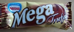 Sorvete picolé Mega Trufa chocolate branco Nestle